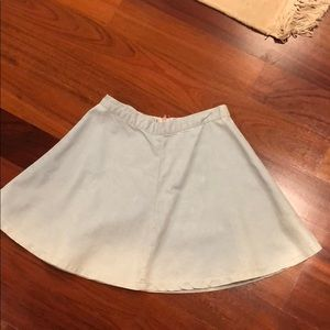 Topshop light wash jean skirt